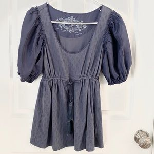 Anthropologie blouse with tassel tie